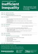 Conference Programme Inefficient Inequality